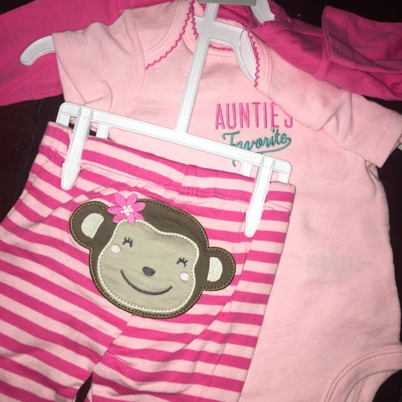 1f6767fccbfbb2 NWT Carter s 3 Month 3 Piece Outfit Monkey Aunty